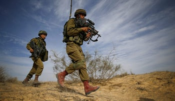 Israel Defense Forces soldiers during a recent exercise.