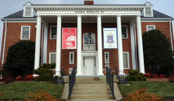 The AEPi house at the University of Maryland, U.S.