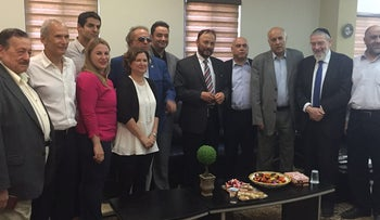 Former Saudi General Anwar Eshki and a delegation of Saudi academics and business people meet with Israeli Knesset members, July 22, 2016.
