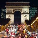 The Avenue des Champs-Élysées in Paris, decorated for the upcoming Christmas holiday, on November 22, 2015.