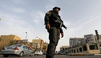 File photo: A member of the special police forces stands guard in Cairo, Egypt April 28, 2017.