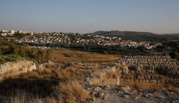 The Tel Beit Shemesh archaeological dig.