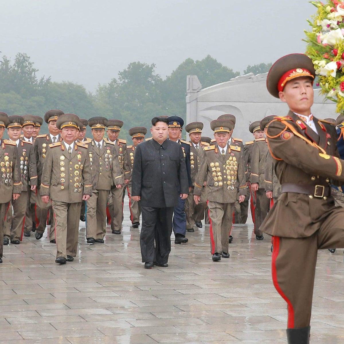 North Korean leader Kim Jong Un visits war graves 64th anniversary of the armistice which ended the Korean War, in a photo released on July 28, 2017 by the Korean Central News Agency in Pyongyang.