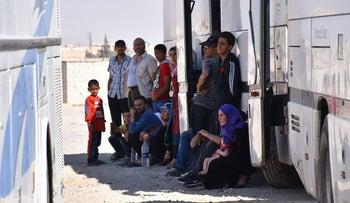 Syrian refugees and militants were evacuated from northeastern Lebanon on August 3, 2017.