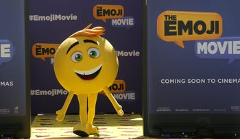 "An emoji character from the film ""The Emoji Movie."""