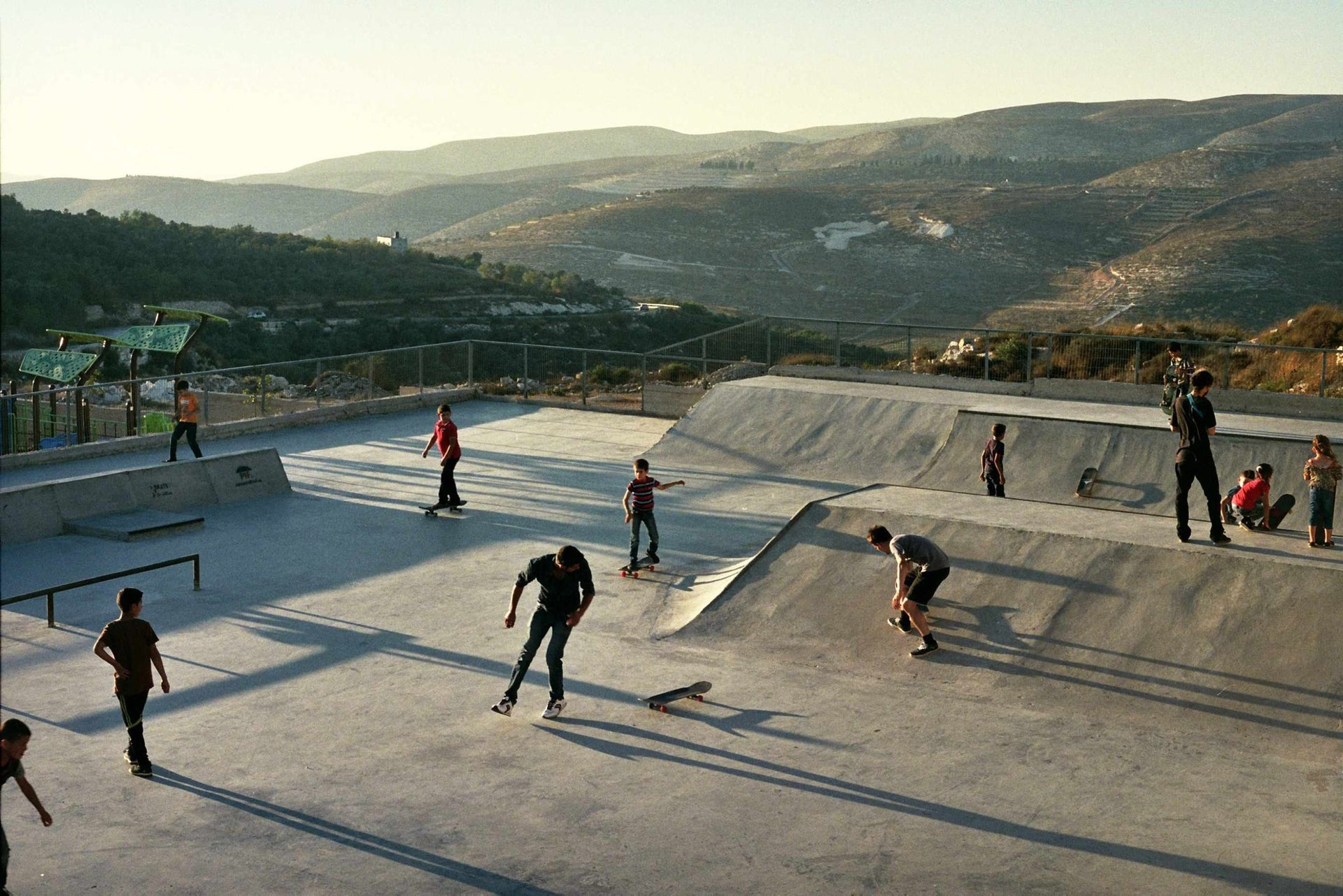 Skateboarders in Asira. A new language.