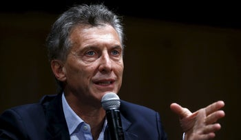 Argentina's president-elect Mauricio Macri gives a news conference in Buenos Aires, Argentina, November 23, 2015.
