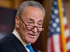 Democratic Sen. Charles Schumer of New York speaks during a news conference on Capitol Hill in Washington, on June 23, 2016.