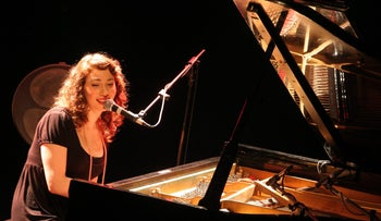 Regina Spektor preforms in Tel Aviv, Israel on March 11, 2007.