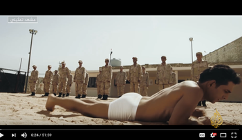 """A scene from the Al Jazeera film """"Soldiers,"""" about Egypt's army."""