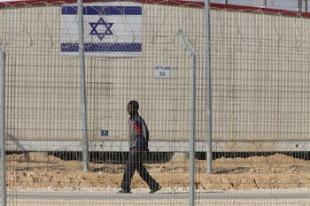The Holot detention center in southern Israel.