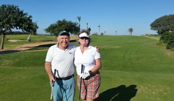 Picture from left to right: Eddy Hoffman and Gill Sadeghi at the November Monthly Medal at Gaash Golf Club this week.