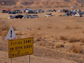 People camping in a firing zone in southern Israel.