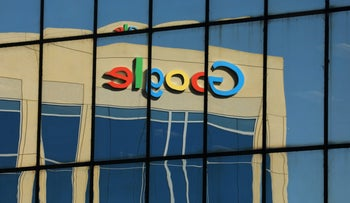 Meanwhile, at Google and other major American companies, diversity is not a thing of wonder: Photo shows mirror image of Google logo reflected on an adjacent office building in Irvine, California, U.S. August 7, 2017.
