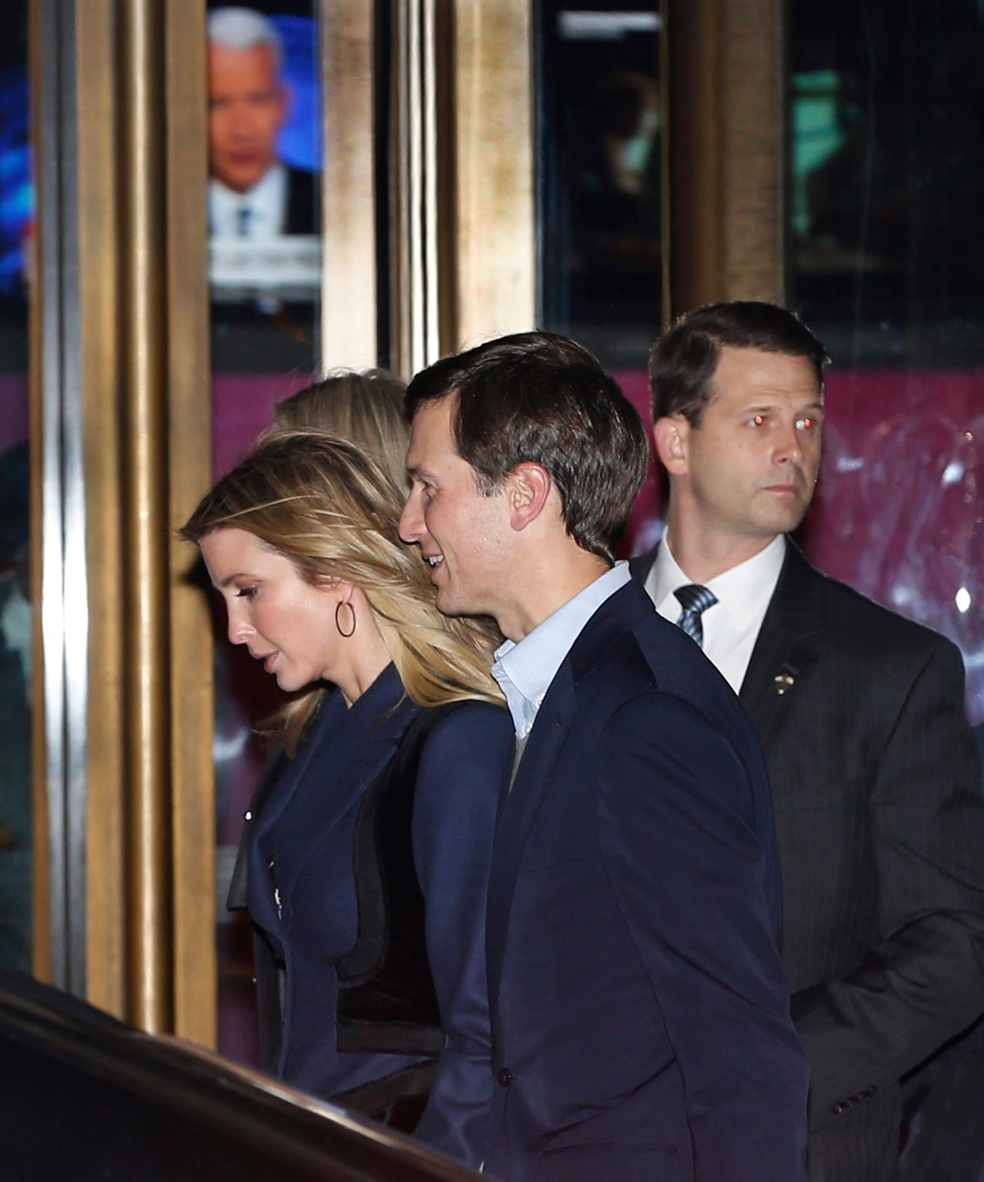 Ivanka Trump and her husband Jared Kushner leave the 21 Club after dining with President-elect Donald Trump on Tuesday, Nov. 15, 2016, in New York.