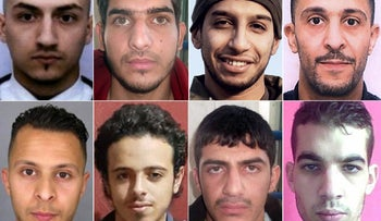 This combination of photos shows all the suspects of the November 13 Paris attacks, November 26, 2015.