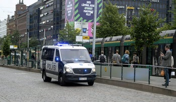 Stabbing in Finland: Police patrol in Central Helsinki after stabbings in Turku, Finland August 18, 2017.