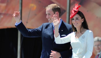 Prince William and Catherine, the Duchess of Cambridge, in Ottawa, Canada, July 1, 2011.