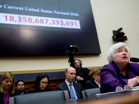Janet Yellen, chair of the U.S. Federal Reserve, speaks during a House Financial Services Committee hearing in Washington D.C., U.S., November 4, 2015.