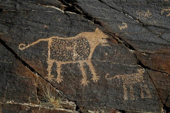 Ancient engravings in the hills of Western Iran, October 2016.