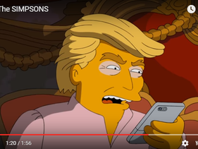 """Donald Trump on the """"3 A.M."""" Internet short of The Simpsons."""