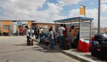 Eritrean and Sudanese asylum seekers being released from the Holot facility in August. The new bill, which shaves only two months off the previous 20-month detention period, should also be declared invalid