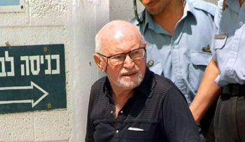 Avraham Marcus Klingberg released from Israeli prison. 1998.