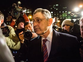 Sheldon Silver leaves federal court after being found guilty, November 30, 2015.