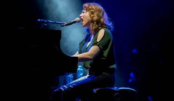 Regina Spektor performs at the Ra'anana Amphitheater, August 19, 2017.