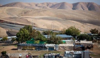 A Bedouin community in the West Bank.