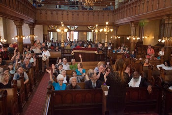 The Eldridge Street Synagogue, back in service!