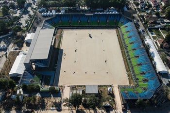 The Olympic Equestrian Center in Rio de Janeiro, August 2016.