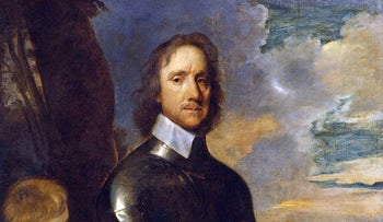 A portrait of Oliver Cromwell by Robert Walker circa 1649.