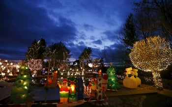 A general view shows the Christmas decoration at a country house estate in the village of Bad Tatzmannsdorf, Austria, November 30, 2015.
