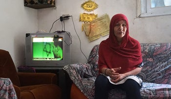 Zeinab Salhi, Raad Salhi's mother, at home in the Deheisheh refugee camp in the West Bank.