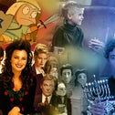 A collage of some of the best Hanukkah-themed TV episodes ever.