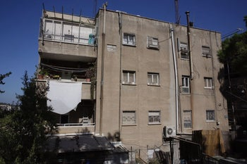 The Jerusalem house where a number of right-wing activists met and lived, August 2017.