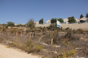 The Road of the Patriarchs running along the settlements of the Gush Etzion Bloc.