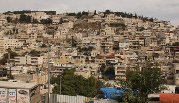 The jumble of houses in Silwan.