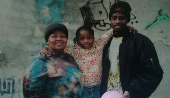 Mohamed Keita, his partner Liziwe Pootjies and her daughter Forever