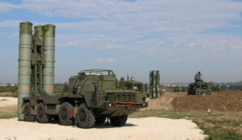 Footage released by Russia's Defence Ministry shows a Russian S-400 defense missile system deployed at Hmeimim airbase in Syria, November 26, 2015.