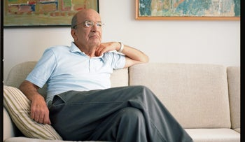 Yossi Sarid poses for a photograph in 2010.
