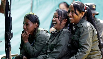 FARC rebels at their camp in the southern jungles of Putumayo, Colombia, August 16, 2016.