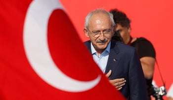 Kemal Kilicdaroglu, leader of Republican People's Party, waves to the crowd during a Democracy and Martyrs' Rally in Istanbul, August 7, 2016.