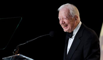 Jimmy Carter speaks during the 53rd Annual ASCAP Country Music Awards at the Omni Hotel, Nashville, Tennessee, November 2, 2015.