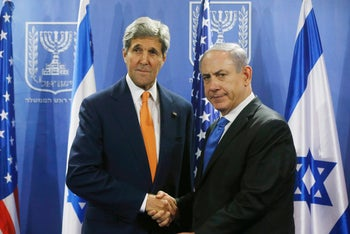 Kerry and Netanyahu in Tel Aviv, July 23, 2014.