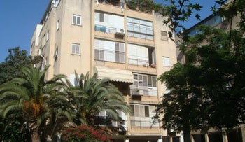 A typical four-story apartment block in Tel Aviv's 'old north' area.