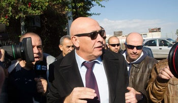 Basel Ghattas after being questioned by the police, December 2016.