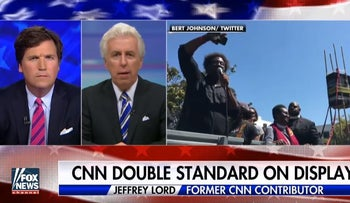 Jeffrey Lord on 'Tucker Carlson Tonight' in a segment called: CNN's political double standard on display
