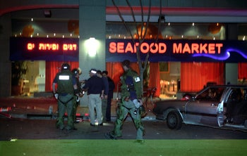 Sea Food Market restaurant, after the terror attack in 2002.